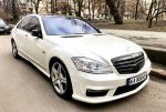 Mercedes 221 белый 2012 год прокат аренда код 255