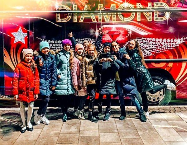 Пати бас Diamond PartyBus на детский день рождения