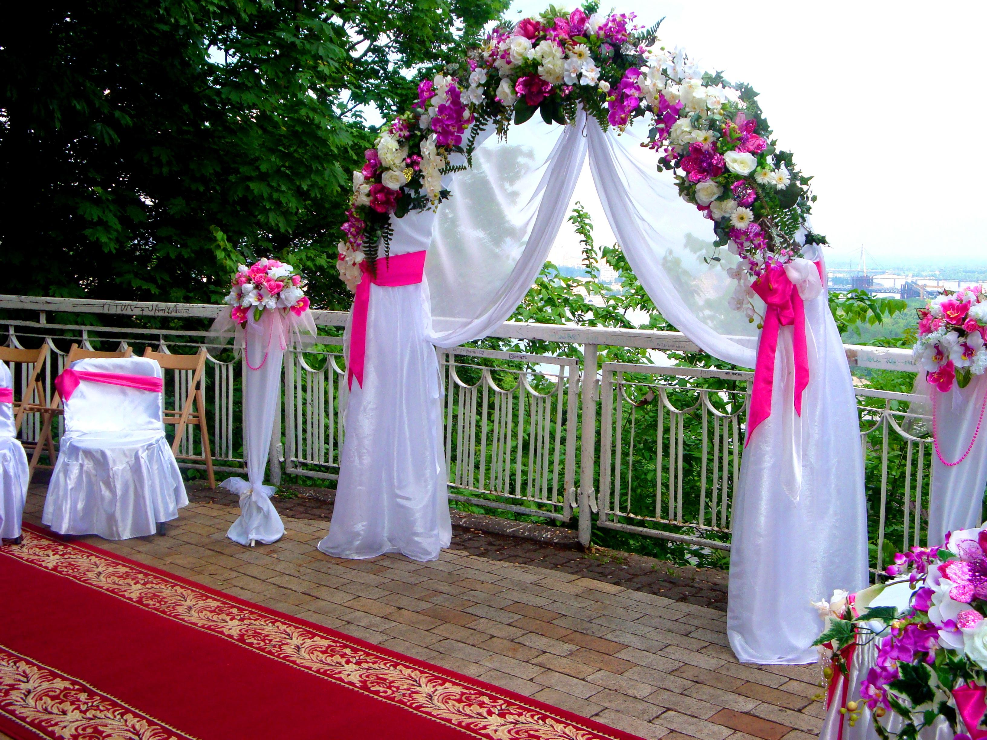 Свадебная арка фото своими руками