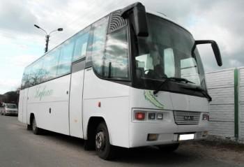 MAN 10220 белый автобус на 35 мест