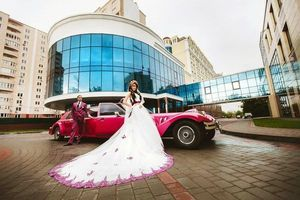 розовый малиновый лимузин заказать на свадьбу девичник