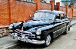 Ретро автомобиль ZIM GAZ-12 черный на свадьбу код 204
