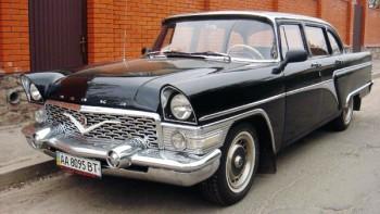 Chayka GAZ-13 черная ретро автомобиль