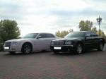 Chrysler 300C черный и белый аренда авто Киев