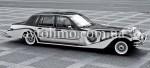 Ретро автомобиль Excalibur черно-белый аренда