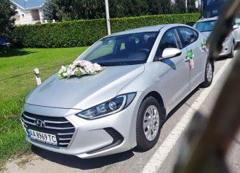 Hyundai Elantra серебристая на прокат киев