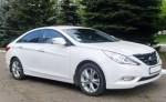 Hyundai Sonata белая NEW прокат авто Киев цена