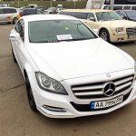 Mercedes CLS класса белый NEW аренда авто код 106