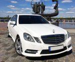 Mercedes W212 NEW белый аренда авто Киев цена