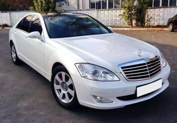 Mercedes W221 белый прокат аренда