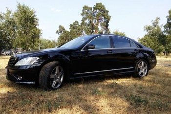 Mercedes W221 черный на свадьбу в киеве