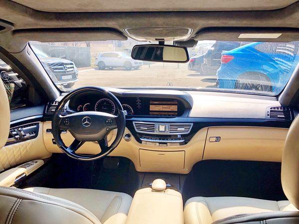 Mercedes W221 S600 черный на свадьбу