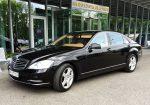 Mercedes W221 S500 original restyle черный аренда авто Киев цена