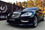 Mercedes W221 S65L AMG черный аренда Мерседеса код 090