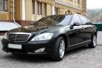 Vip-авто Mercedes W221 S550L c белым салоном аренда Киев цена