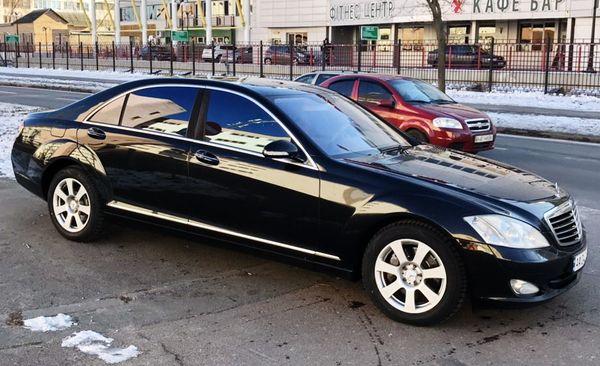 Mercedes W221 S550L black на свадьбу киев
