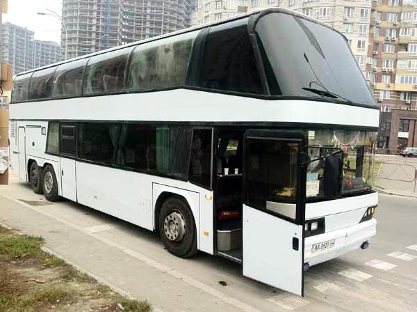 Neoplan двух этажный автобус на 70 мест