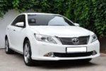 Toyota Camry V50 белая аренда авто код 153