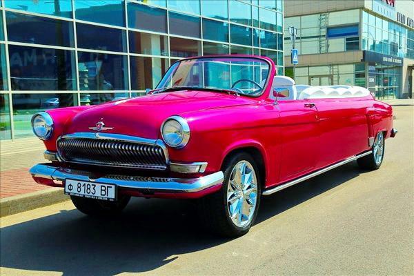 Volga GAZ 21 ретро кабриолет на свадьбу