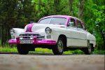 Ретро автомобиль ZIM GAZ-12 бело-розовый на свадьбу Киев цена