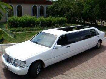 Mercedes W140 белый лимузин кабриолет