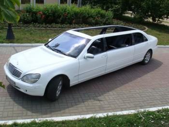Mercedes W220 белый лимузин кабриолет