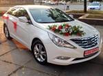 Hyundai Sonata белая 2012 аренда авто Киев цена