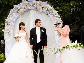 Свадебная арка на прокат бежевая