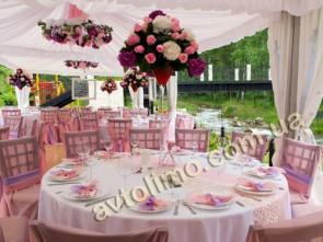 Украшние свадбных столов гостей на свадьбу, украшение свадебных столов цветами свечами