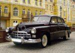 Ретро автомобиль ZIM Gaz-12 вишневый аренда Киев цена