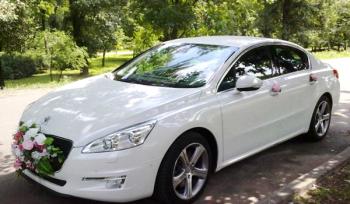 Peugeot 508GT белый авто на свадьбу