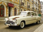 Ретро автомобиль ZIM GAZ-12 бежевый прокат аренда