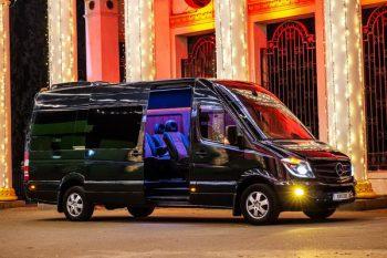Mercedes Sprinter черный VIP аренда на трансфер