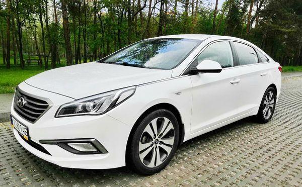 Hyundai Sonata белая 2015 аренда прокат на свадьбу