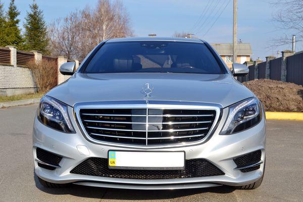 Mercedes W222 серебристый на свадьбу киев