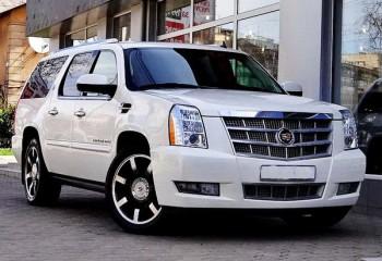 Cadillac Escalade белый на свадьбу киев