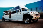 Лимузин Mega Hummer H2 белый аренда код 019
