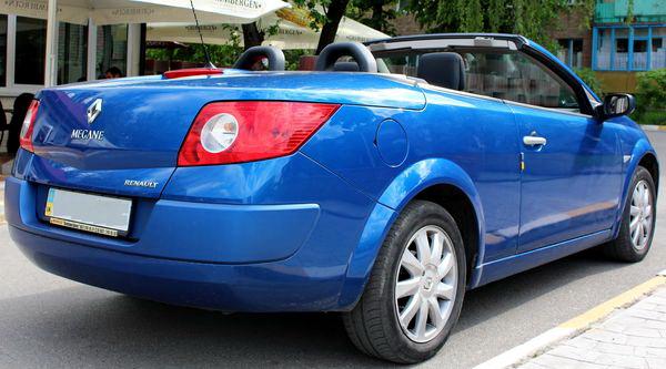 Renault megane coupe cabriolet синий аренда кабриолета киев