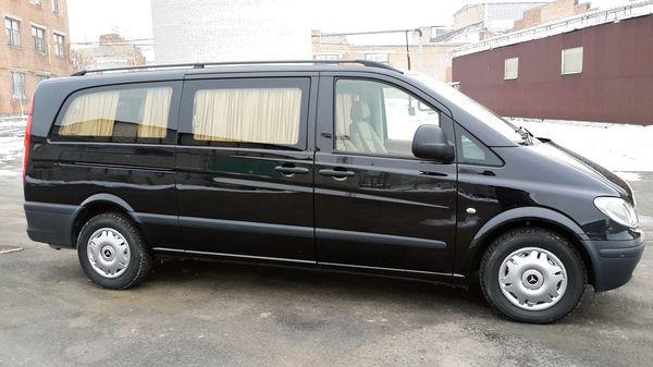 Mercedes Vito Extra Long черный на свадьбу микроавтобус