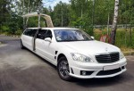 Лимузин Mercedes W221 S63 белый прокат код 029