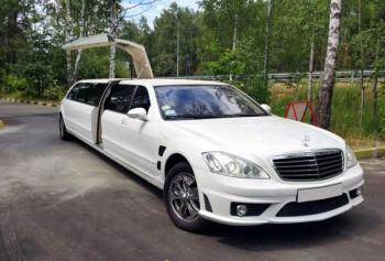 Mercedes W221 S63 белый прокат аренда на свадьбу