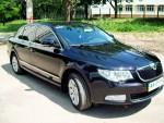 Skoda Super B черная аренда авто Киев цена