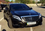 Vip-авто Mercedes W222 S500L AMG черный аренда Киев цена