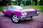 Ретро автомобиль Buick Le sabre розовый аренда код 193