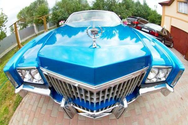 Cadillac eldorado голубой кабриолет аренда
