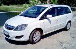 Минивэн  Opel Zafira белый аренда Киев цена
