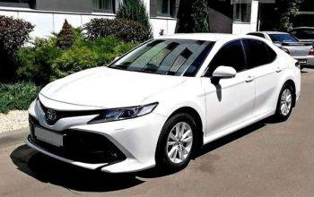 Toyota Camry V70 белая арендовать на прокат на свадьбу