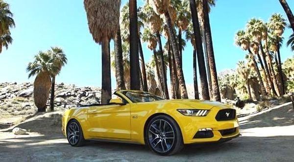 Кабриолет Ford Mustang GT желтый прокат аренда