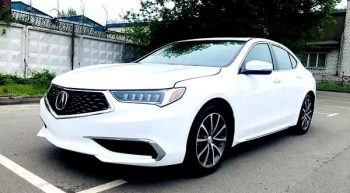 Acura TLX белая авто на прокат на свадьбу