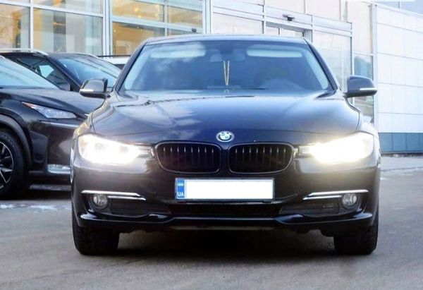 BMW 320i F30 черный аренда киев